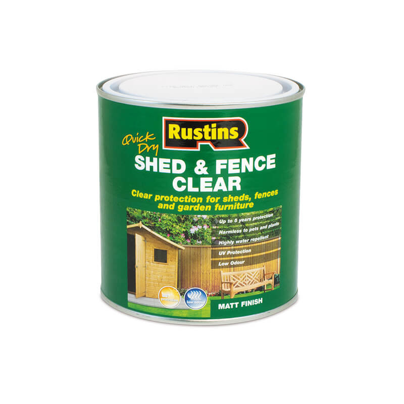 Rustins Quick Dry Shed & Fence Clear/