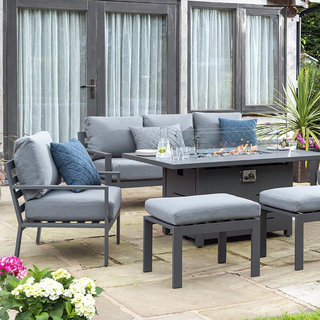 Titchwell Lounge Set with Firepit Table