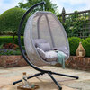 Folding Textilene Swing - Grey/