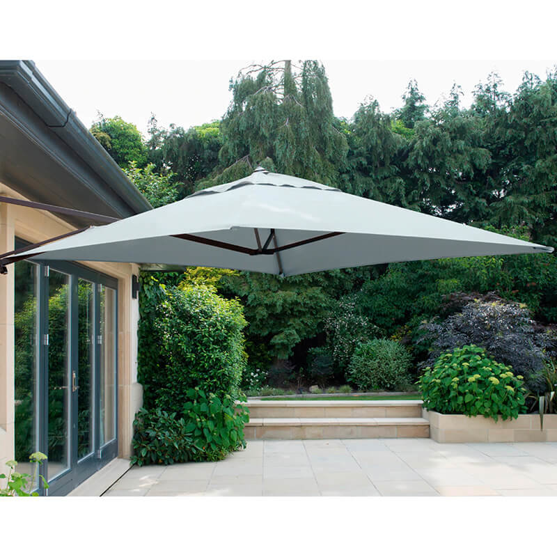 Wall Mounted Cantilever Parasol Grey including Cover/