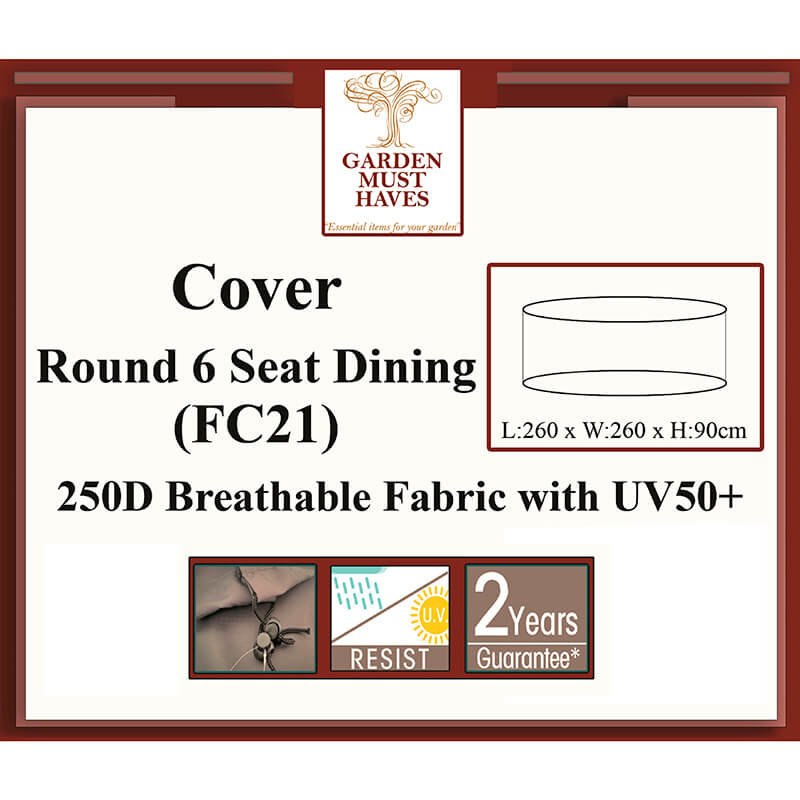 Round 6 Seat Dining Cover/